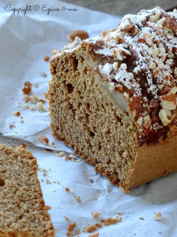 Epices & moi Cake poires amandes 5