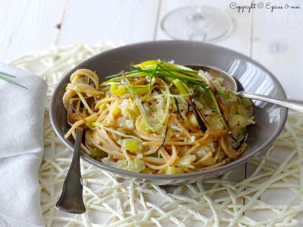 Epices & moi Spaghetti échalotes poireaux 2