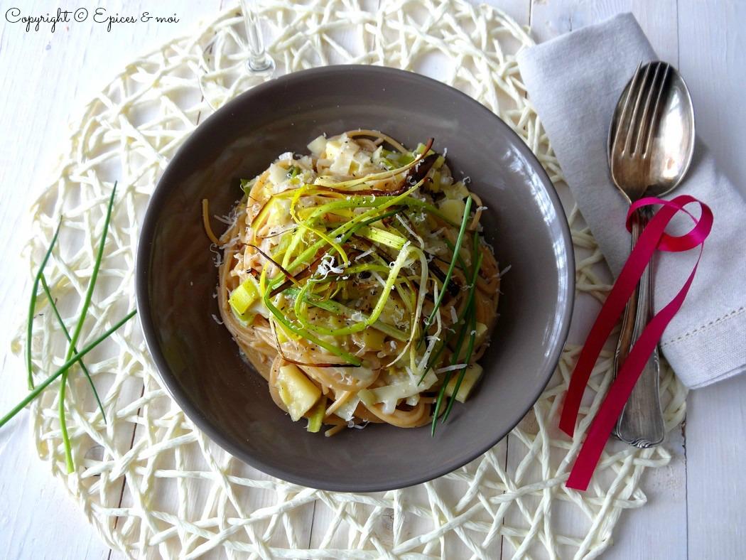 Epices & moi Spaghetti échalotes poireaux 4