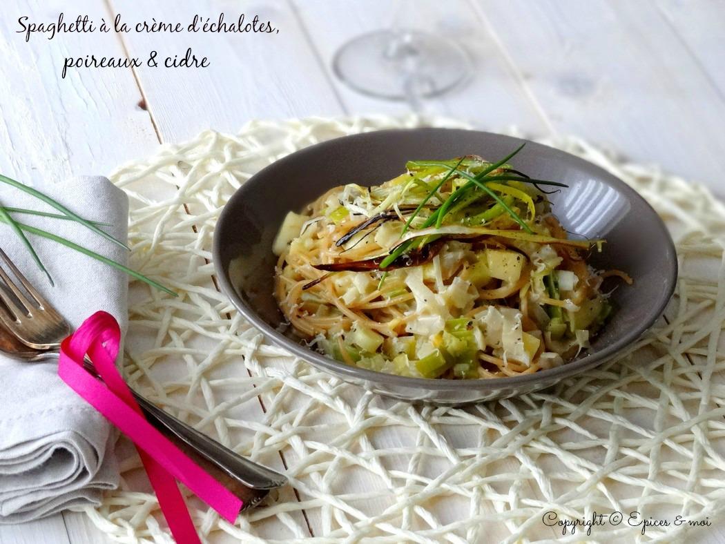 Epices & moi Spaghetti échalotes poireaux 5