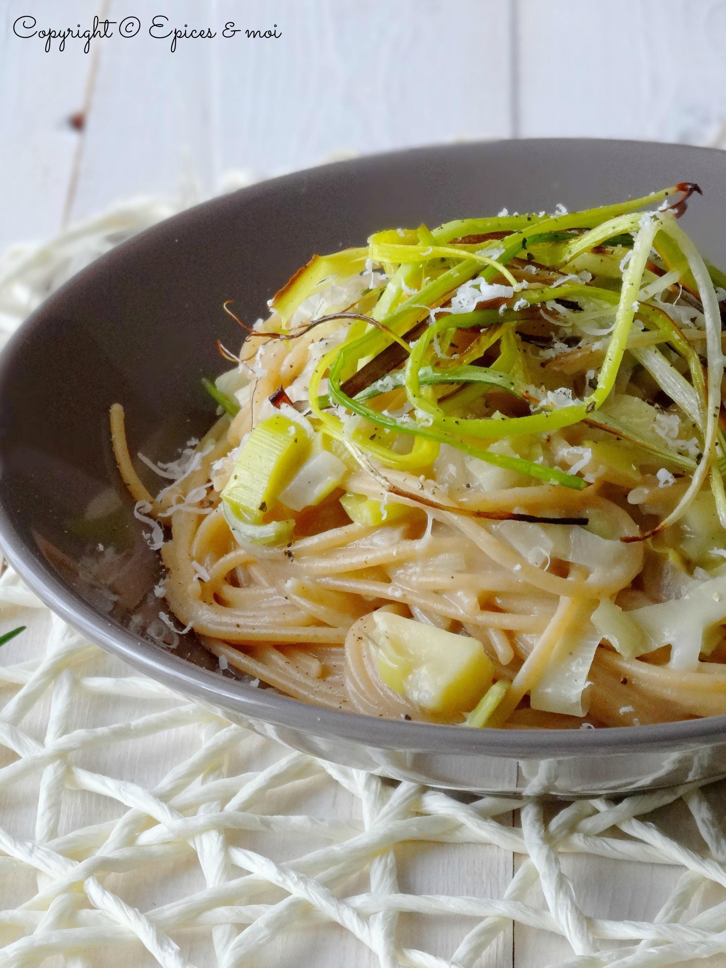 Epices & moi Spaghetti échalotes poireaux 7