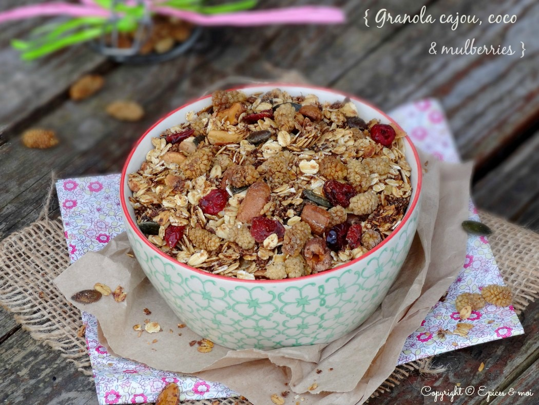 Epices & moi Granola mulberries 5