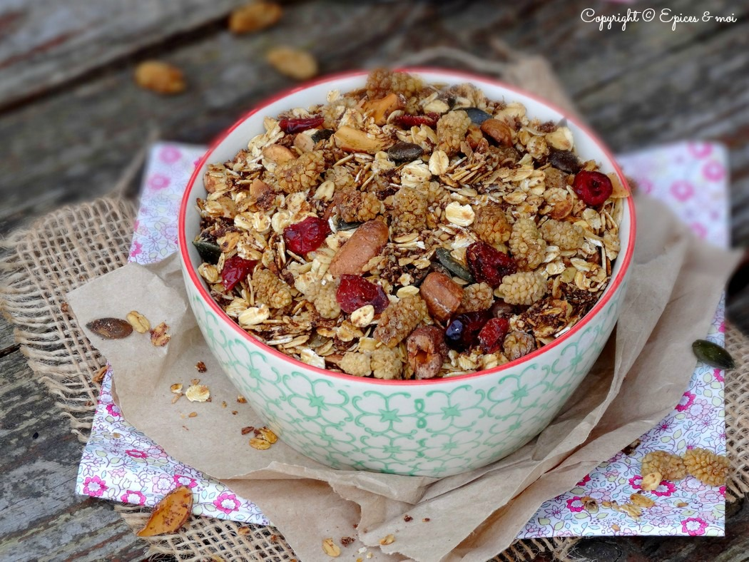 Epices & moi Granola mulberries 6