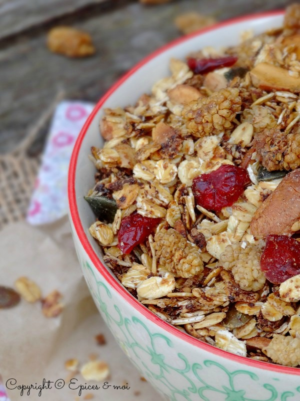 Epices & moi Granola mulberries 7
