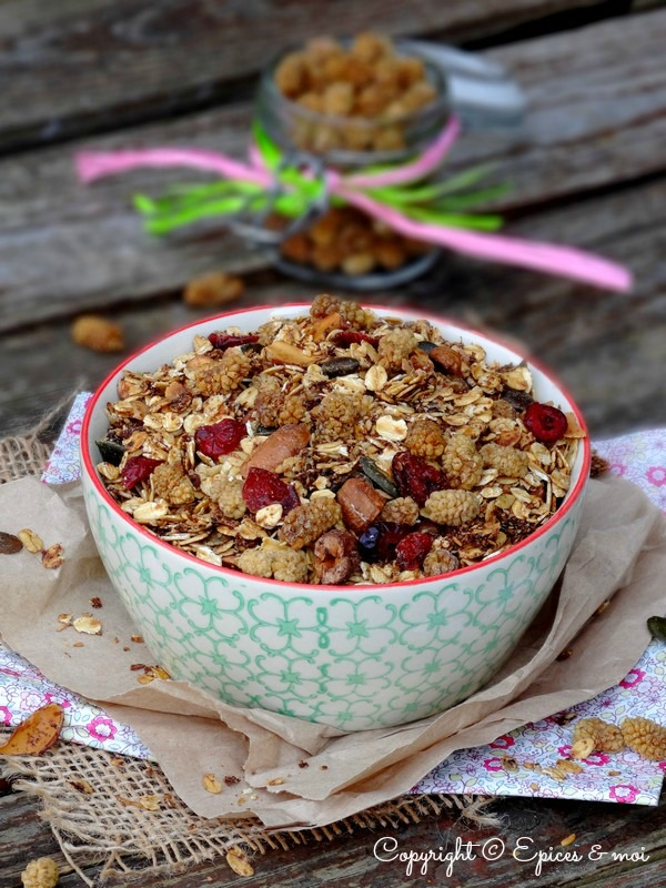 Epices & moi Granola mulberries 8