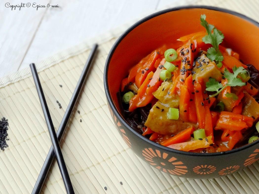 Epices  & moi  Wok seitan carottes orange 2