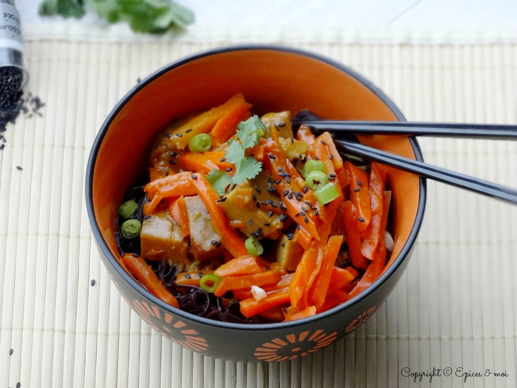 Epices  & moi  Wok seitan carottes orange 3