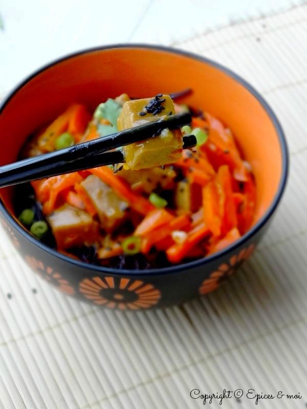 Epices  & moi  Wok seitan carottes orange 5