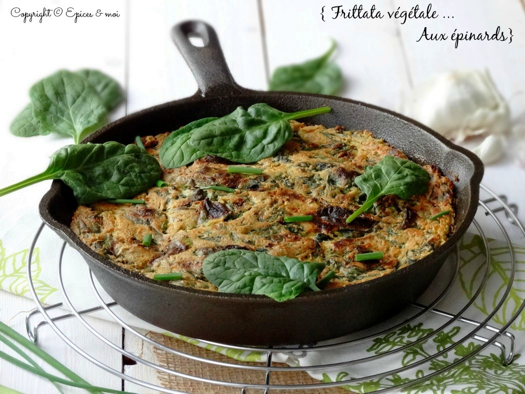 Epices & moi Frittata végétale épinards 1