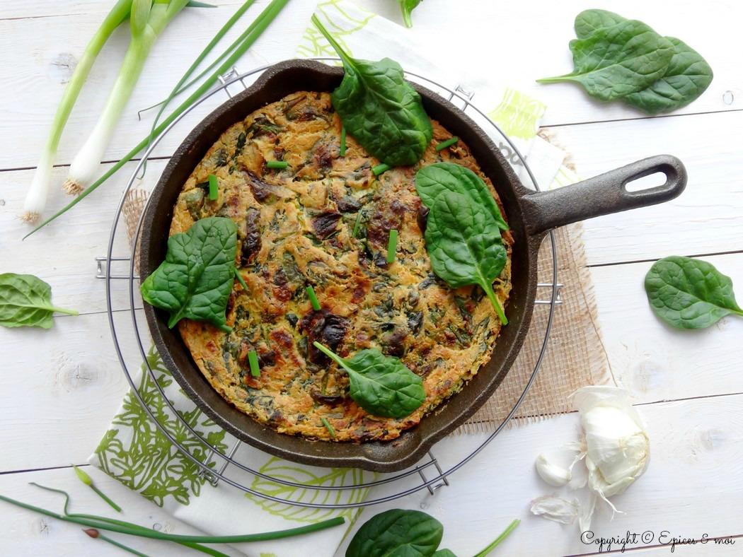Epices & moi Frittata végétale épinards 2