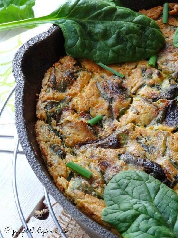 Epices & moi Frittata végétale épinards 3