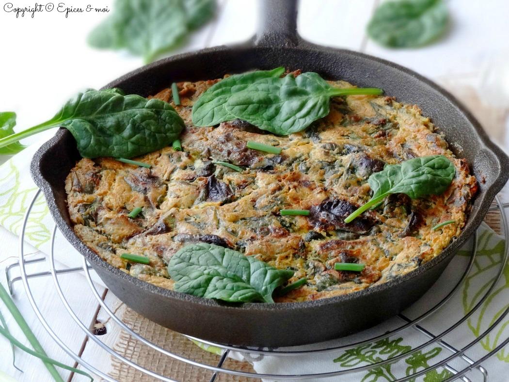 Epices & moi Frittata végétale épinards 5