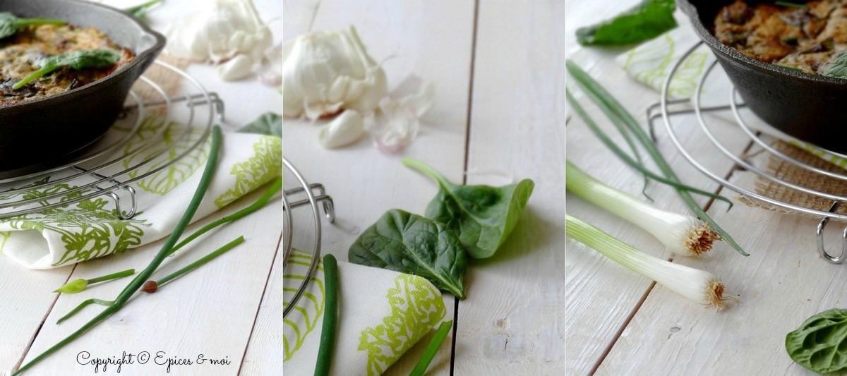 Epices & moi Frittata végétale épinards 7