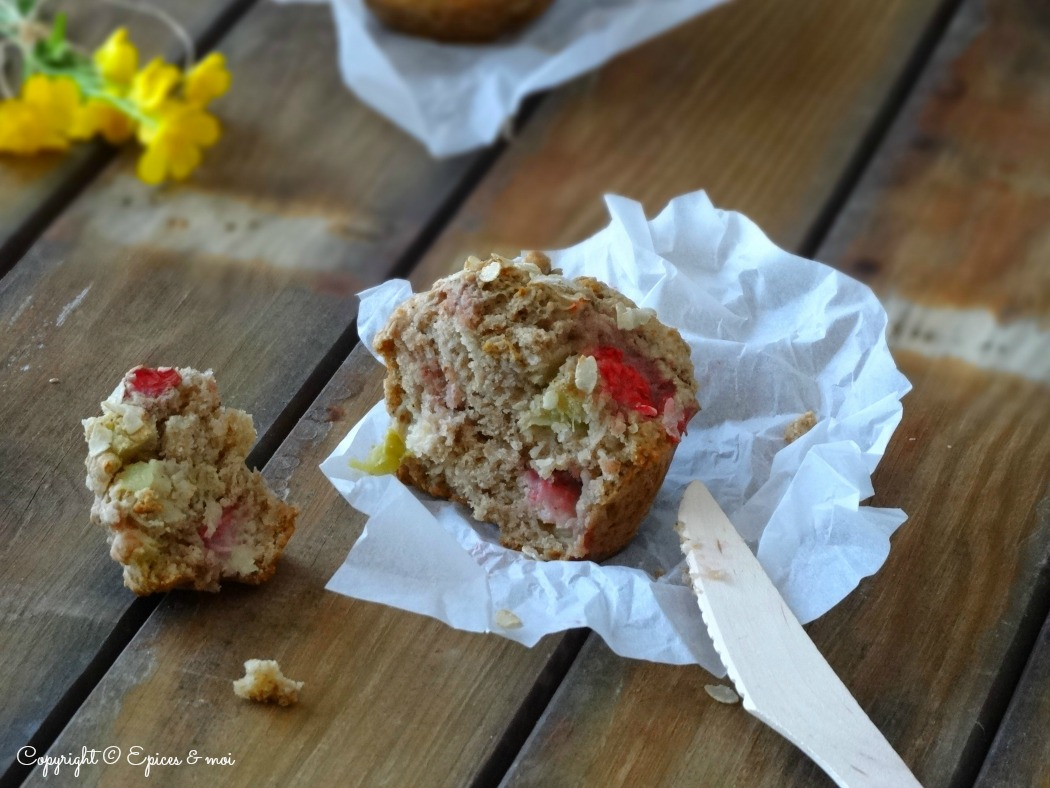 Epices & moi Muffins fraises rhubarbe 1