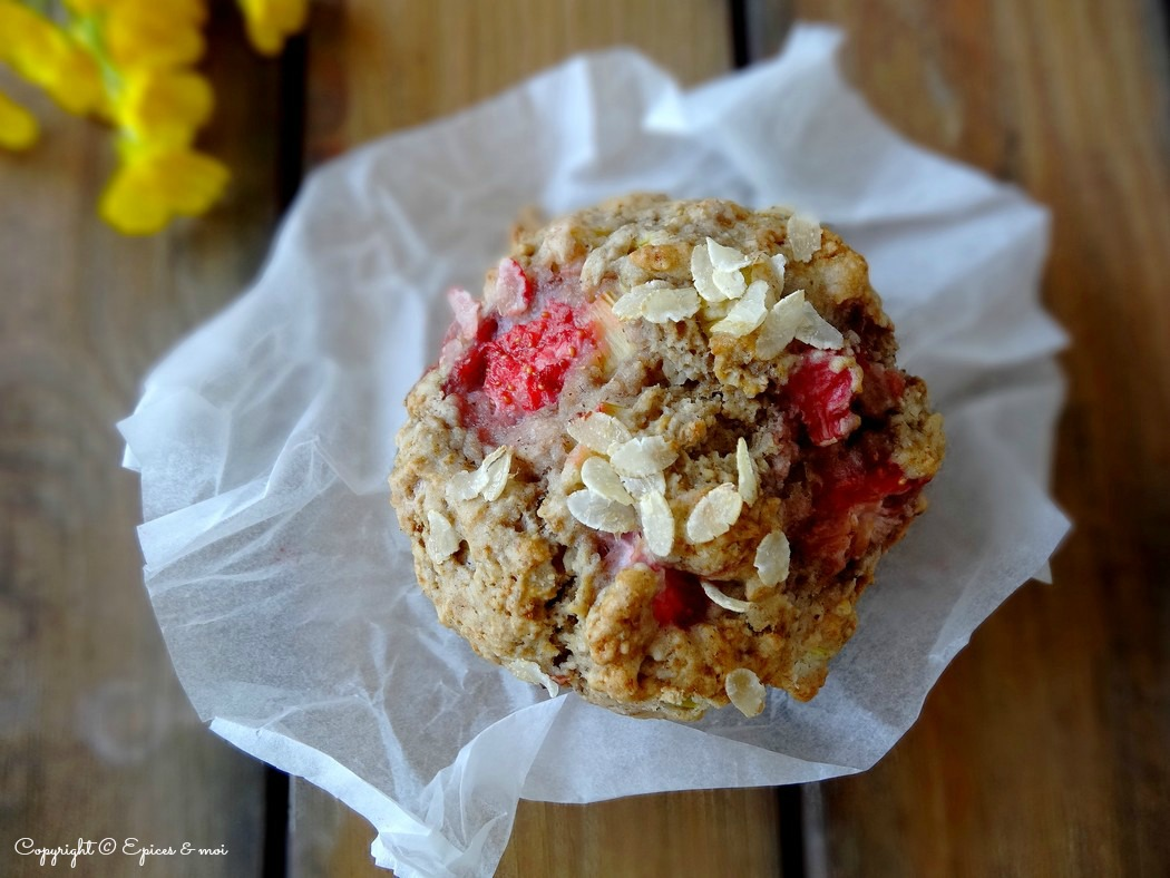 Epices & moi Muffins fraises rhubarbe 2