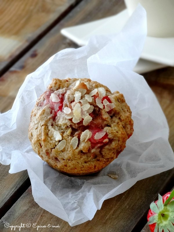 Epices & moi Muffins fraises rhubarbe 3