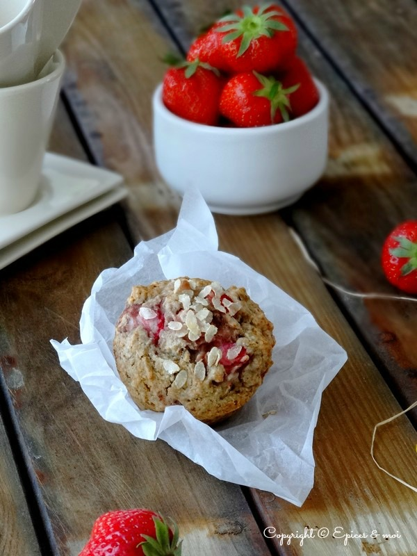 Epices & moi Muffins fraises rhubarbe 4