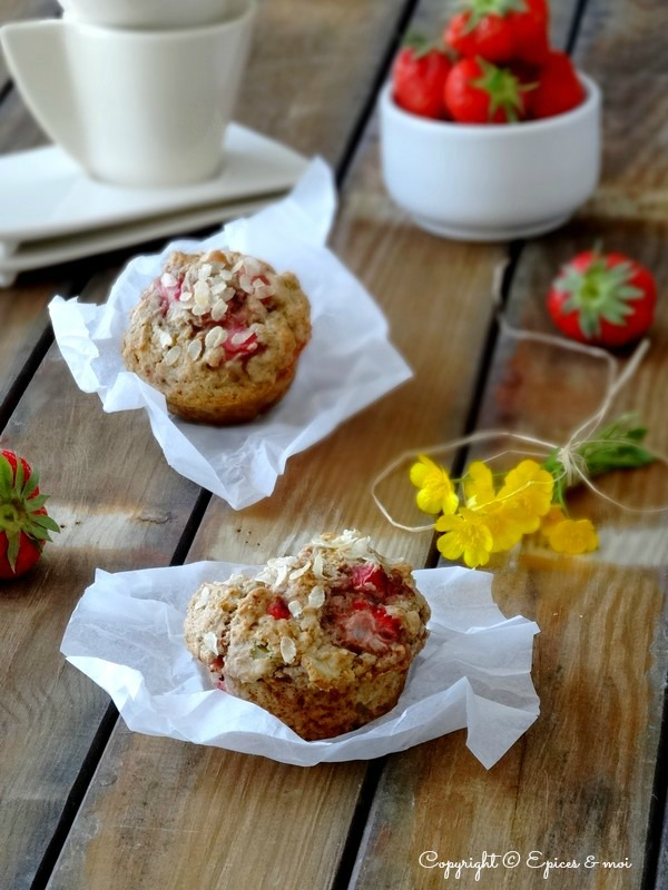 Epices & moi Muffins fraises rhubarbe 5
