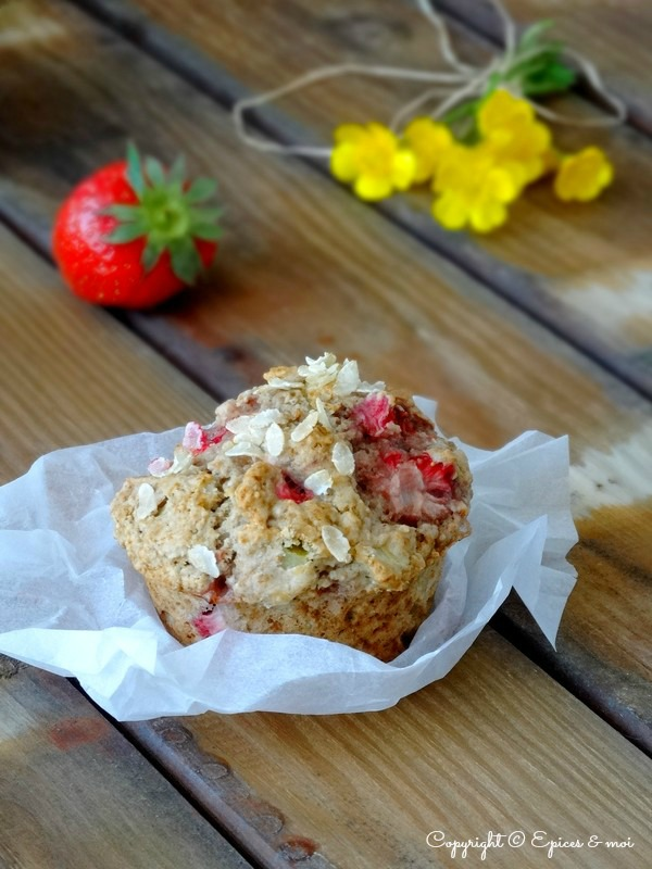 Epices & moi Muffins fraises rhubarbe 7