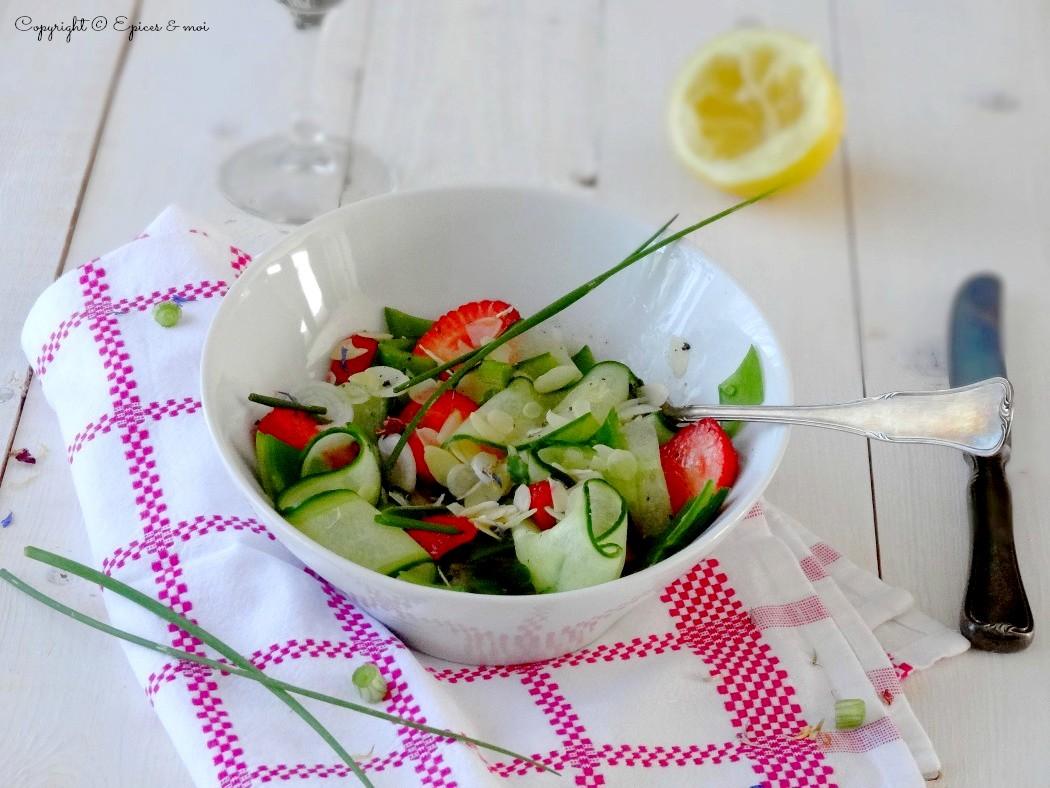 Epices & moi Salade concombre fraises 1