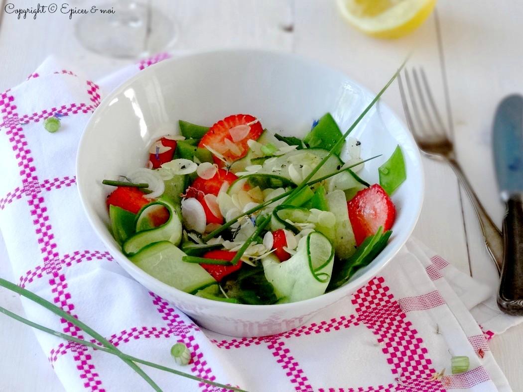 Epices & moi Salade concombre fraises 3