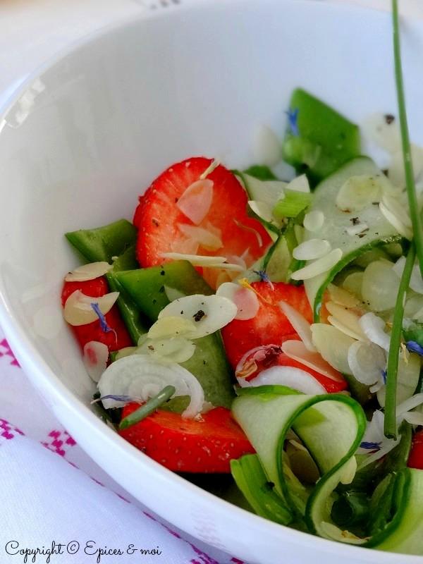 Epices & moi Salade concombre fraises 4