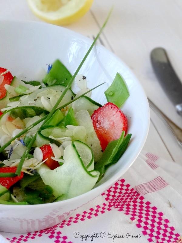 Epices & moi Salade concombre fraises 5