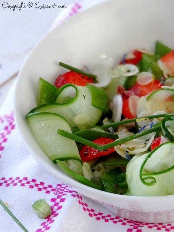Epices & moi Salade concombre fraises 6