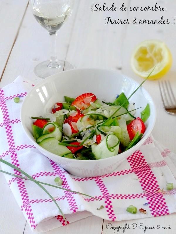 Epices & moi Salade concombre fraises 7
