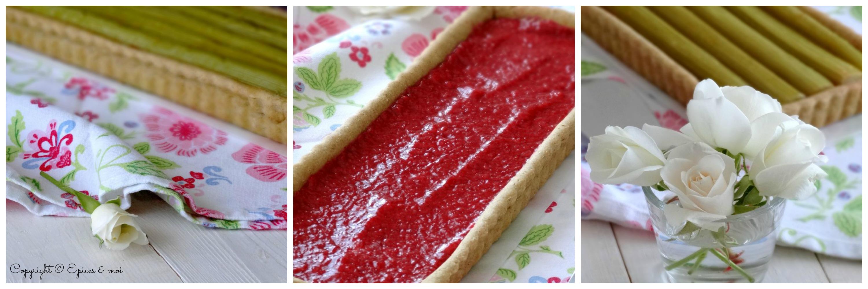 Epices & moi Tarte fraises rhubarbe 10