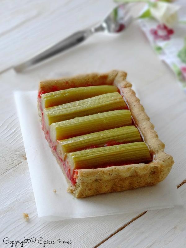 Epices & moi Tarte fraises rhubarbe 6