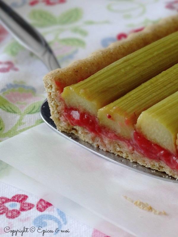 Epices & moi Tarte fraises rhubarbe 7