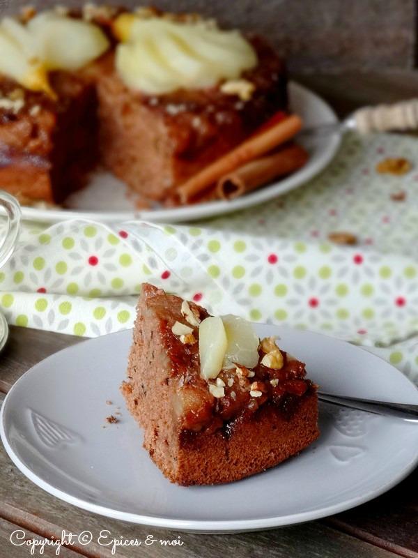 Epices & moi Gâteau renversé poires caramel 3