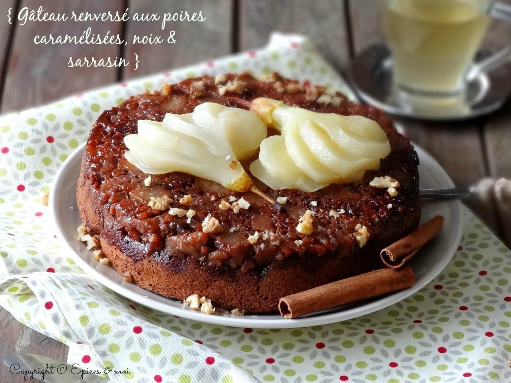 Epices & moi Gâteau renversé poires caramel 4