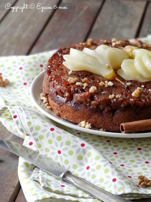 Epices & moi Gâteau renversé poires caramel 5