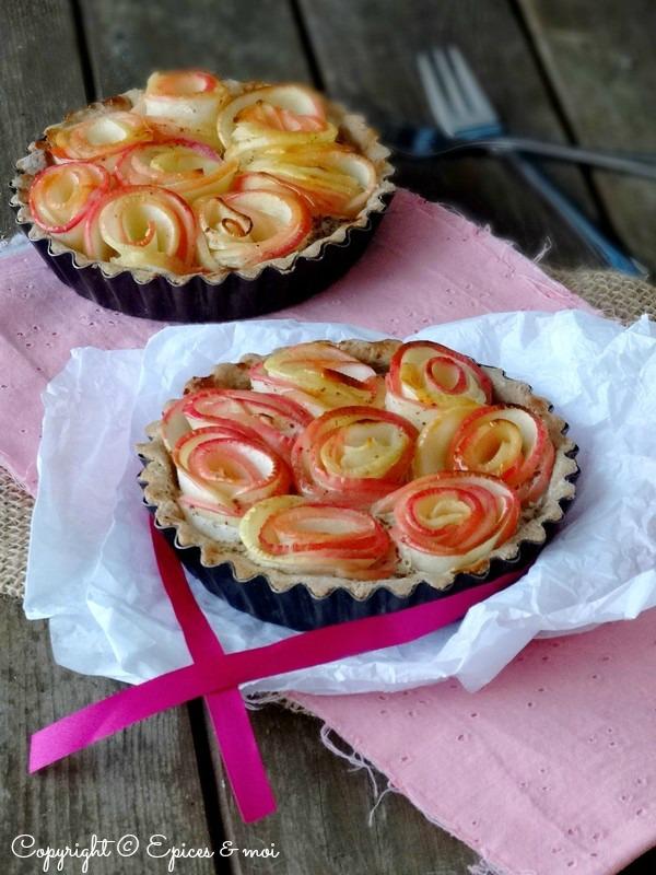 Epices & moi Tartelettes pommes roses 3