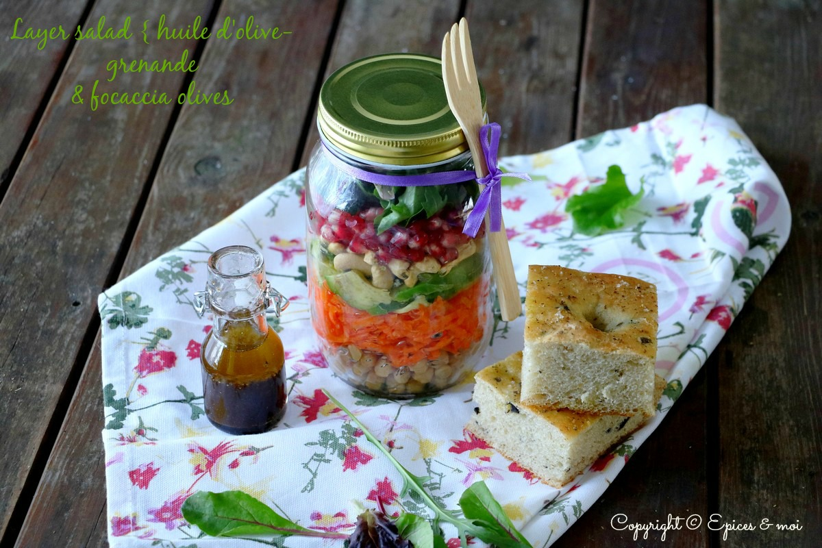 Epices & moi Foccacia salade huile d'olive 2