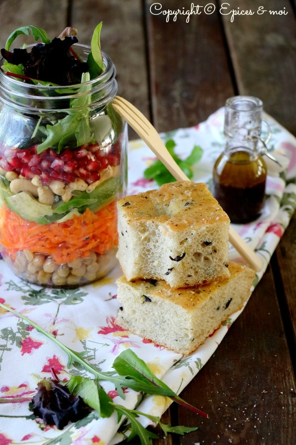 Epices & moi Foccacia salade huile d'olive 5