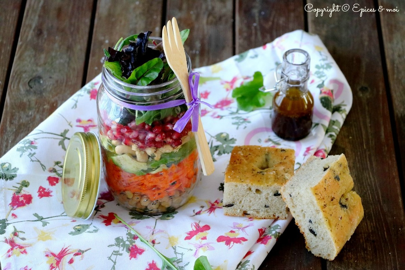 Epices & moi Foccacia salade huile d'olive 6