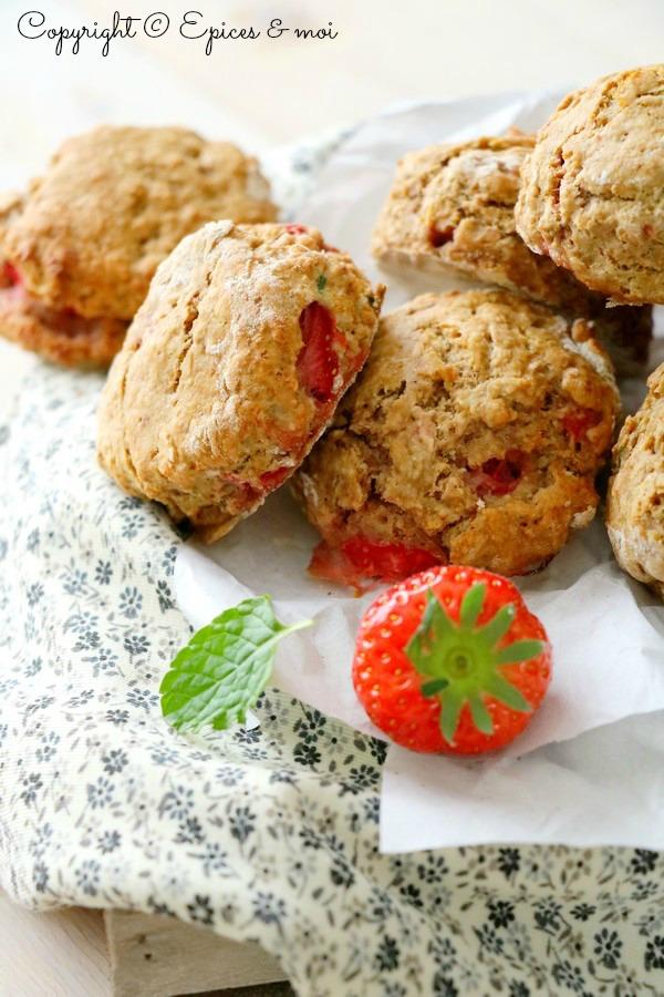 Epices & moi Scones fraises Eco Défi 5