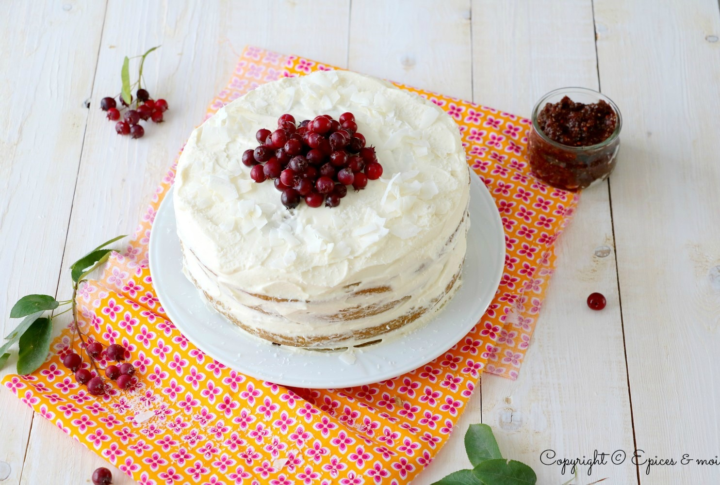 Naked cake amélanches-coco 4