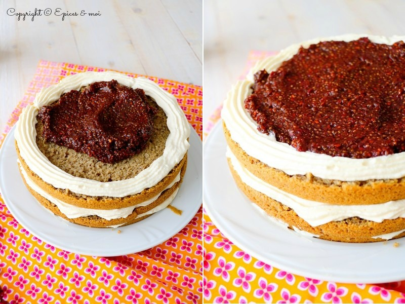 Naked cake amélanches coco 9
