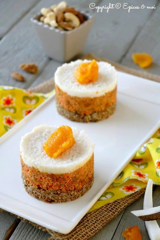Gâteau cru aux carottes