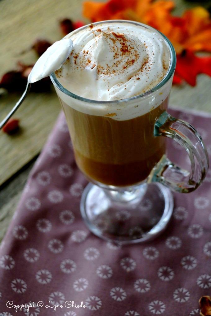 Pumpkin spice latte saveur noisette