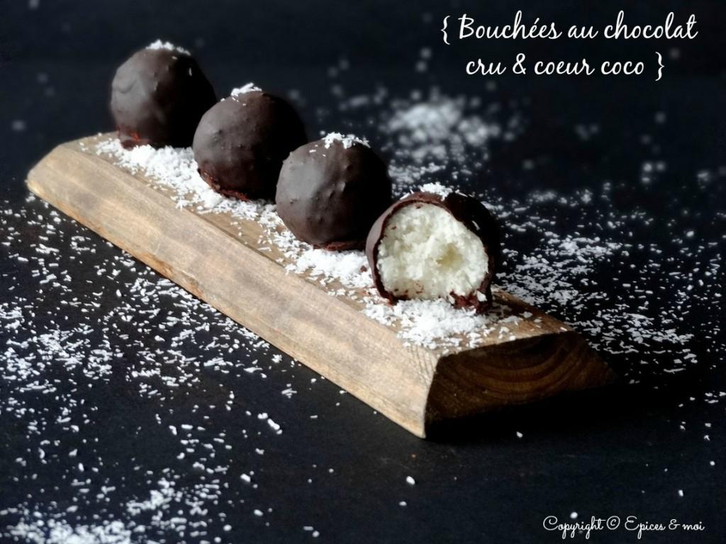 Bouchées au chocolat cru façon Bounty #vegan