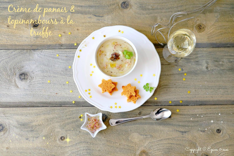 Crème de panais et topinambours à la truffe