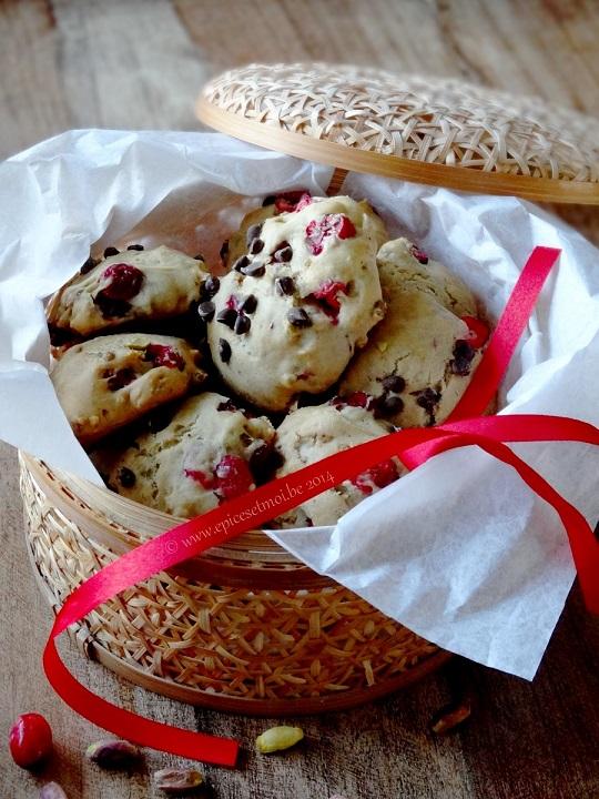 Biscuits moelleux aux cranberries et pistache
