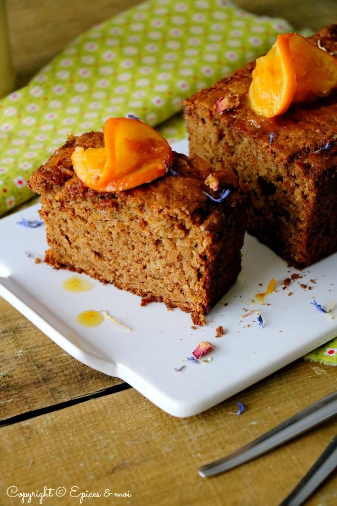 cake saveur pain d'épices aux clémentines et amandes - Épices & moi