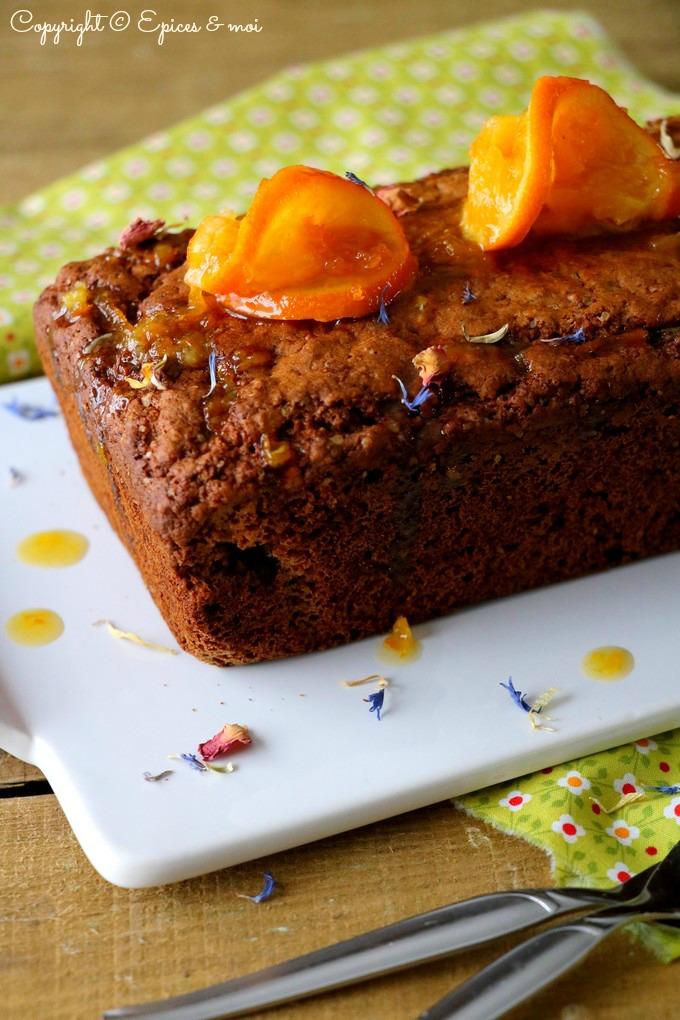 Epices & moi - Cake saveur pain d'épices aux clémentines et amandes