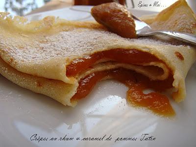 Epices & moi - Crêpes au rhum & Caramel de pommes Tatin